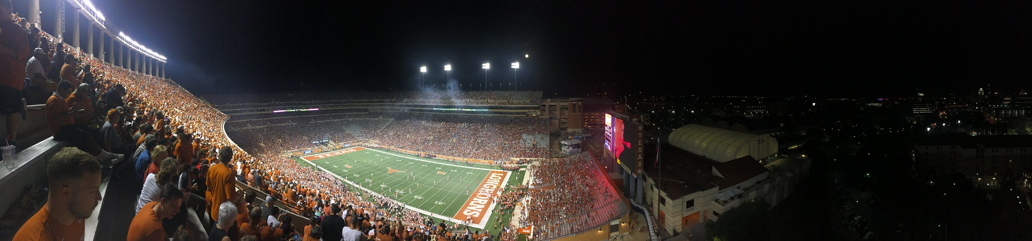 Panorama of Darrell K Royal-Texas Memorial Stadium